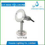 Iluminación al aire libre del paisaje de la lámpara subacuática del punto ligero del acero inoxidable LED