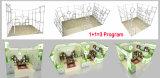Построьте и установите портативную разностороннюю многоразовую модульную стойку выставки
