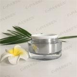 Frasco 30g de creme acrílico de prata quadrado para o empacotamento do cosmético (PPC-ACJ-082)