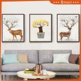 フレームの暖かく自然な動物の景色の絵画が付いているギフトの壁の装飾映像