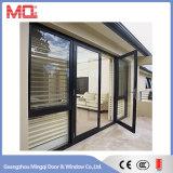 Puerta de aluminio del marco con las persianas