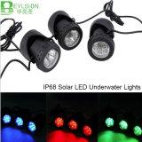 4.5W RGB LED im Freien LED Solarunterwasserlicht