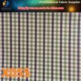 ткань проверки холстинки катиона 3mm, ткань полиэфира с водоустойчивым для одежды (X055-57)