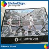 Китай лучшая цена на заводе рекламы 220g полиэфирная ткань баннер на дисплее