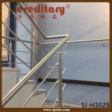 Stair Glass Railing System Stainless Steel Cable Railing Wood (SJ-H1030)