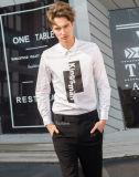 Longue chemise de chemise de configuration faite sur commande estampée par modèle neuf