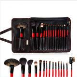 Poils d'un animal 15 PCS pinceau de maquillage professionnel avec étui en cuir PU