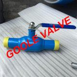150lb/300lb/600lb/900lbレバーによって作動させる減らされた穴の十分に溶接された球弁(GAQ61PPL)