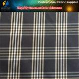 Ткань полиэфира, пряжа покрасила ткань проверки для одежды