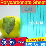 Sacos multifoliados folhas oca de policarbonato resistente a UV para material com efeito de estufa