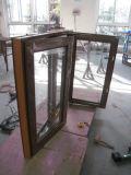 Ventana inestable de aluminio esmaltada doble con estilo americano