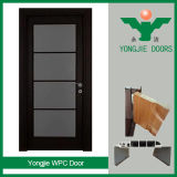 Madera ecológica WPC compuesto de plástico de la puerta de seguridad