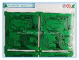 4 do Metade-Furo camadas de placa de circuito com HASL + sem chumbo