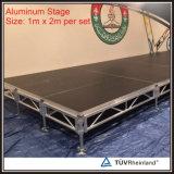 Estágio portátil de alumínio móvel ajustável por atacado do festival