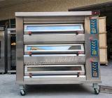 세륨을%s 가진 상업적인 빵집 장비 3 갑판 전문가 아래에 전기 오븐