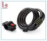 Cable de combinación reajustable bloqueos de bicicletas gratuito con soporte de montaje