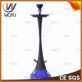 Aço Inoxidável Garrafa grande Hookah Tubo de água Hookah Fumar Shisha Charcoal Blue Smoke Bowl