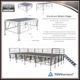 Étape modulaire en aluminium d'échafaudage portatif réglable de hauteur