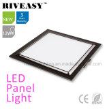 Luz de painel preta Electroplated do diodo emissor de luz do alumínio 12W