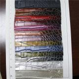 핸드백 (W195)를 위한 도금된 은 악어 PVC 합성 가죽