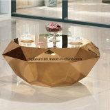 티타늄 도금 다이아몬드 모양 스테인리스 커피용 탁자