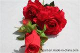 Цветки Rose украшения венчания красные искусственние