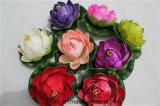 Kleine rote sich hin- und herbewegende Lotos-künstliche Lotos-Blumen für Dekoration
