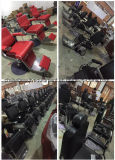 Unidade de cadeira de shampoo preto com bacia cerâmica para equipamento de salão