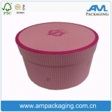 Contenitore impermeabile su ordinazione di fiore di carta con l'imballaggio rotondo del tubo del contenitore di coperchio