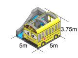 아이를 위한 학교 버스 팽창식 결합 뛰어오르는 도약자