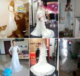 2017 половинных втулок с пригонки плеча & пирофакел Wedding Bridal платье