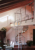 Escalera de acero moderno/escalera de madera maciza
