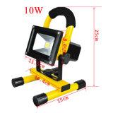 매우 Portable 광도 10W 옥수수 속 Rechargeble 태양 LED 플러드 일 빛, 물 저항하는 코드가 없는 재충전용 야영 램프