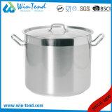 Crisol enarenado de las existencias de sopa de la parte inferior de la cosechadora de la conducción de calor del acero inoxidable de 04 estilos