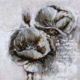 花の油絵のキャンバスの絵画
