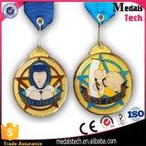 Impresión de la dimensión de una variable redonda y medallas plateadas oro de epoxy de Jiu-Jitsu de la insignia