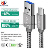 USB는 C 케이블, Snowkids USB a에서 USB C 케이블 이동 전화를 위한 나일론 땋는 빠른 충전기 코드를 타자를 친다