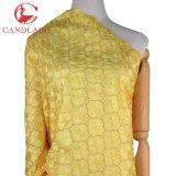 Tessuto francese svizzero africano del merletto di colore giallo per il vestito da partito