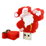PVC suave del mecanismo impulsor del flash del USB de la Navidad 16GB del padre más barato