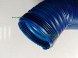 3 인치 90/100cm 확장되는 길이를 가진 파란 PVC 플라스틱 환기구 관