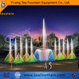 Упрощенные под музыку танцуют фонтаном