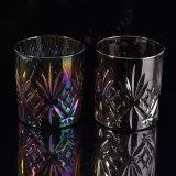 贅沢な銀製カラーガラス蝋燭ホールダー