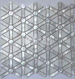 Blanco de agua dulce del mosaico del shell y del mármol
