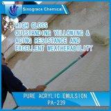 Émulsion acrylique pure résistante de dureté élevée et d'excellent frottement pour des peintures de mur