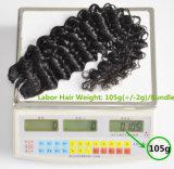 L'armure brésilienne de travail de cheveu de produits capillaires empaquette le cheveu bouclé profond 105g, premiers paquets de Vierge de prolonge de cheveux humains