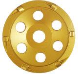 Колесо колеса чашки PCD истирательное для удаления пола