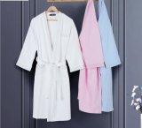 Bathrobe relativo à promoção do hotel/os Home pijama/roupa de noite do Waffle/