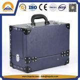 De reizende Kosmetische Blauwe Koffer van de Make-up (hb-7002)