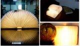 مرنة مصغّرة زاويّة [تبل لمب] [لد] خشبيّة [بلوتووث] كتاب ضوء المتحدث