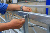 Type en acier gondole de Pin de la galvanisation Zlp630 chaude d'étrier d'extrémité